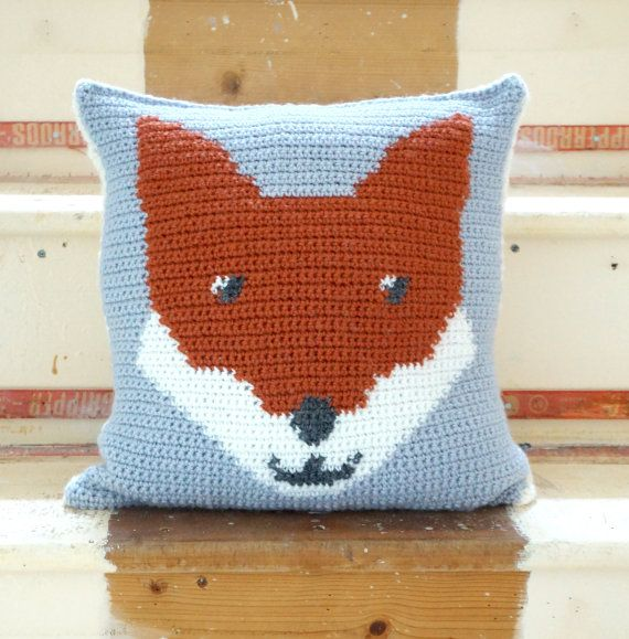 Fox Crochet, Cushion Pattern, Pillow Woodland, Forest Animal ...