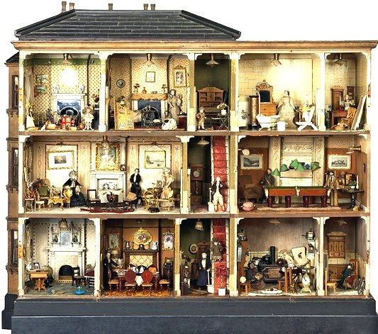 Early victorian dollhouse furniture queen victoria s rein for Queen victoria style furniture