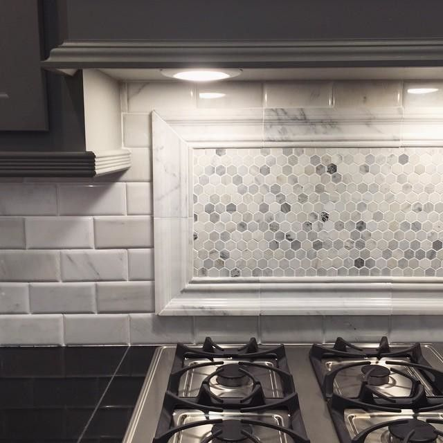 Kitchen Backsplash Tile Labor Cost: Frame A Mosaic With Our Coordinating Finishing Pieces For