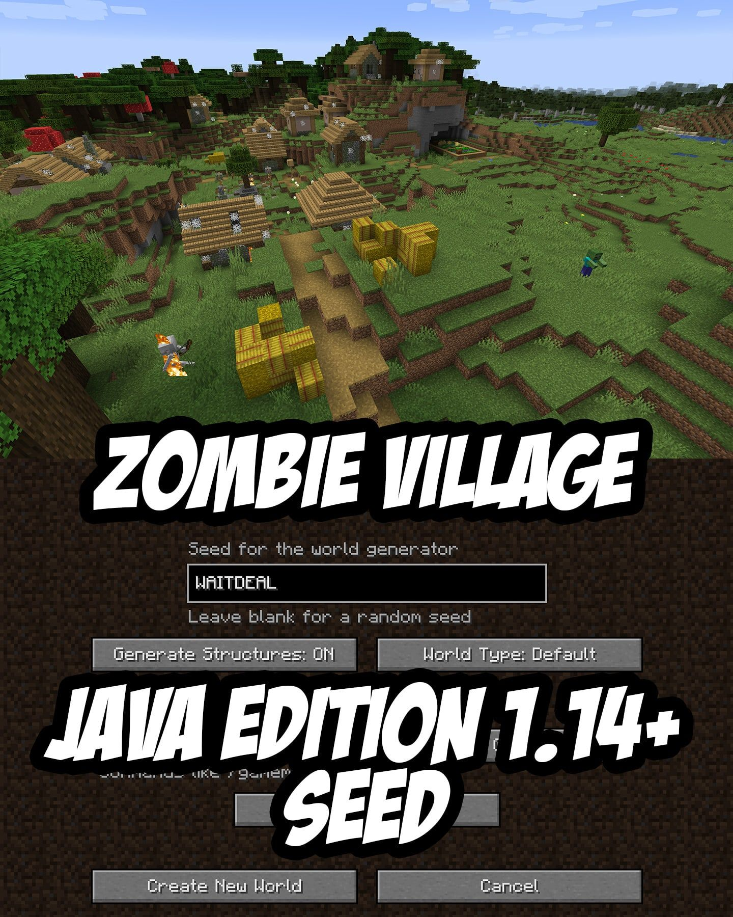 Forest Village Destroyed By Zombies Java 1 14 With Images
