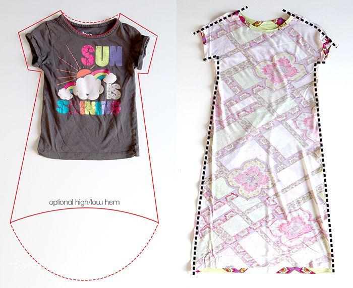 Easy sun dress tutorial - 30 minute t-shirt dress | Crafty ...