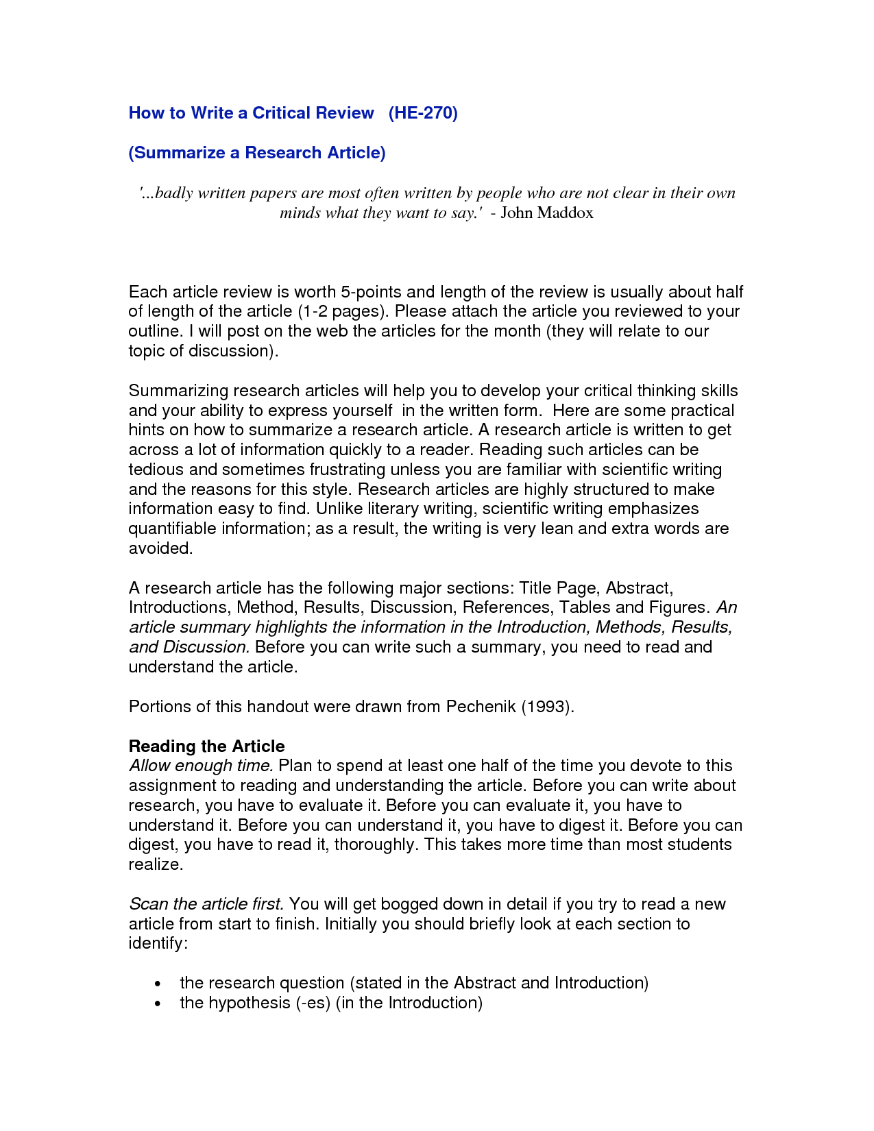 how to write a research article  Article writing, Research paper