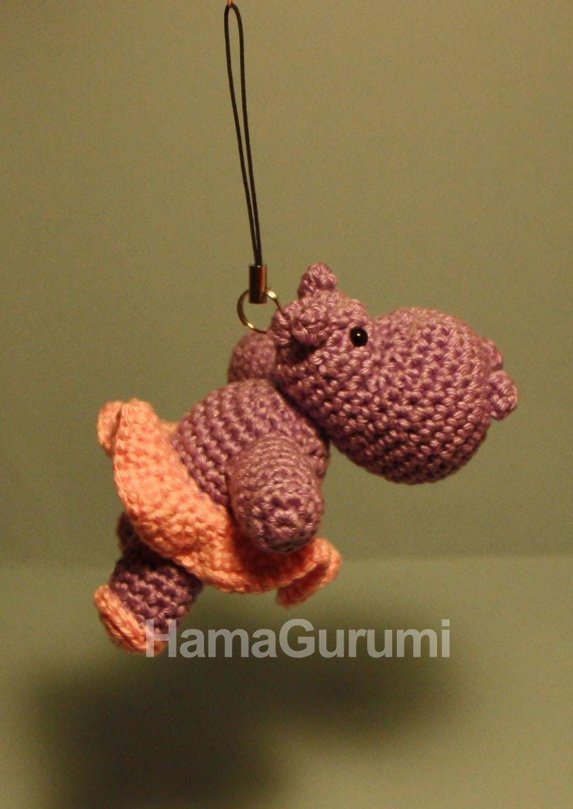 Hipopótamo con tutú   amigurumi   Pinterest   Hipopótamo, Tutú y ...