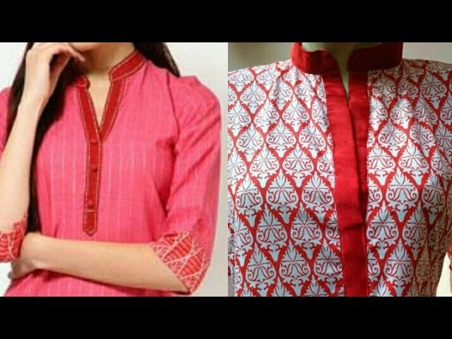 35c4448491 In this video i will teach you Kurti collar neck cutting and stitching with  kurti cutting