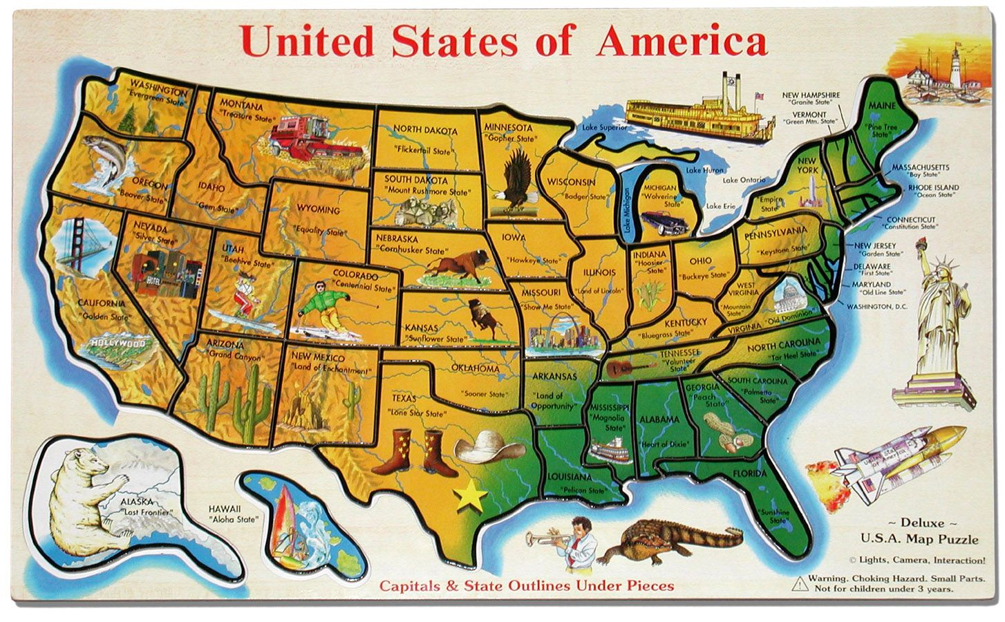 Images Of Roadside Attractions Cross The Usa Walk Across America - Us map of states game