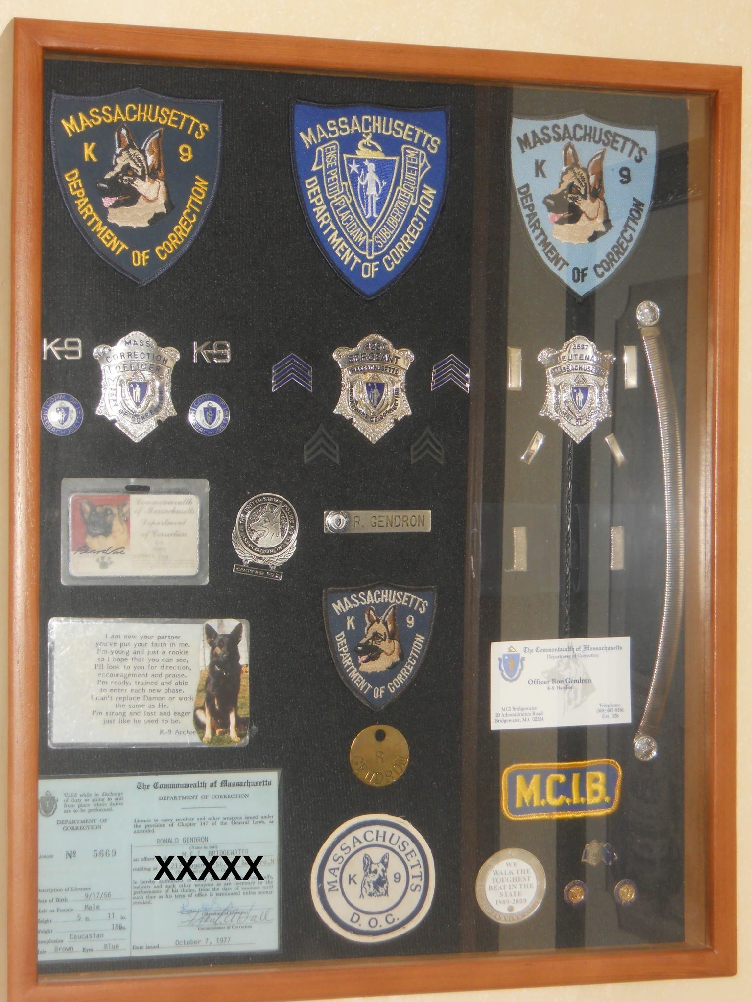 Massachusetts doc ron gendron police retirement gifts