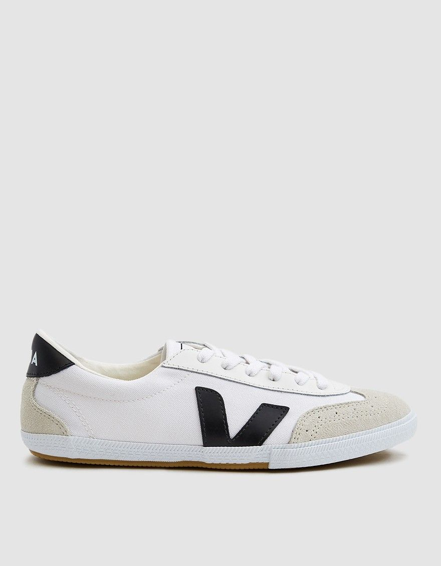 Península valores Temporada  Veja / Volley Canvas Sneaker in White/Black | Sneakers, Canvas sneakers,  Brown purses