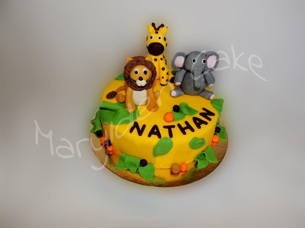 Marylden cake cake design g noise chocolat ganache poire le lion la girafe et l 39 l phant sont - Patte de lion ...