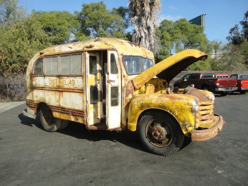 1948 Chevy Short School Bus Barn Find Rare Cool Bus No Reserve