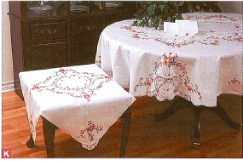 Fine Table Linens Royal Albert New Country Rose Crossstitch Rect