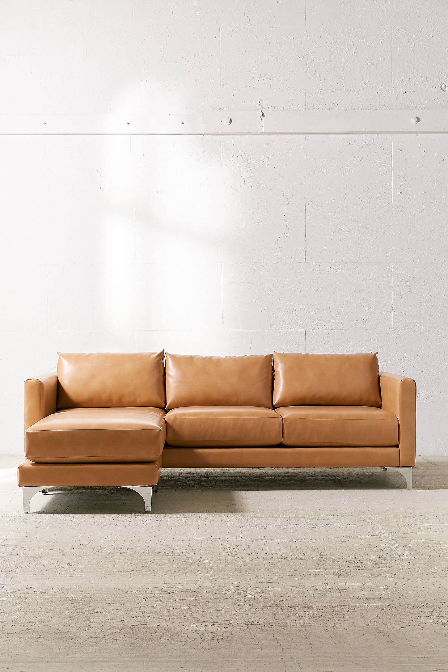 Marvelous Chamberlin Recycled Leather Sectional Sofa Inside Machost Co Dining Chair Design Ideas Machostcouk