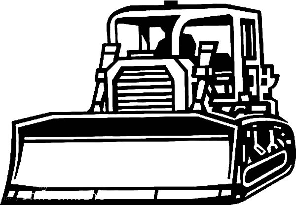 Awesome Picture Of Bulldozer Coloring Page : Coloring Sun