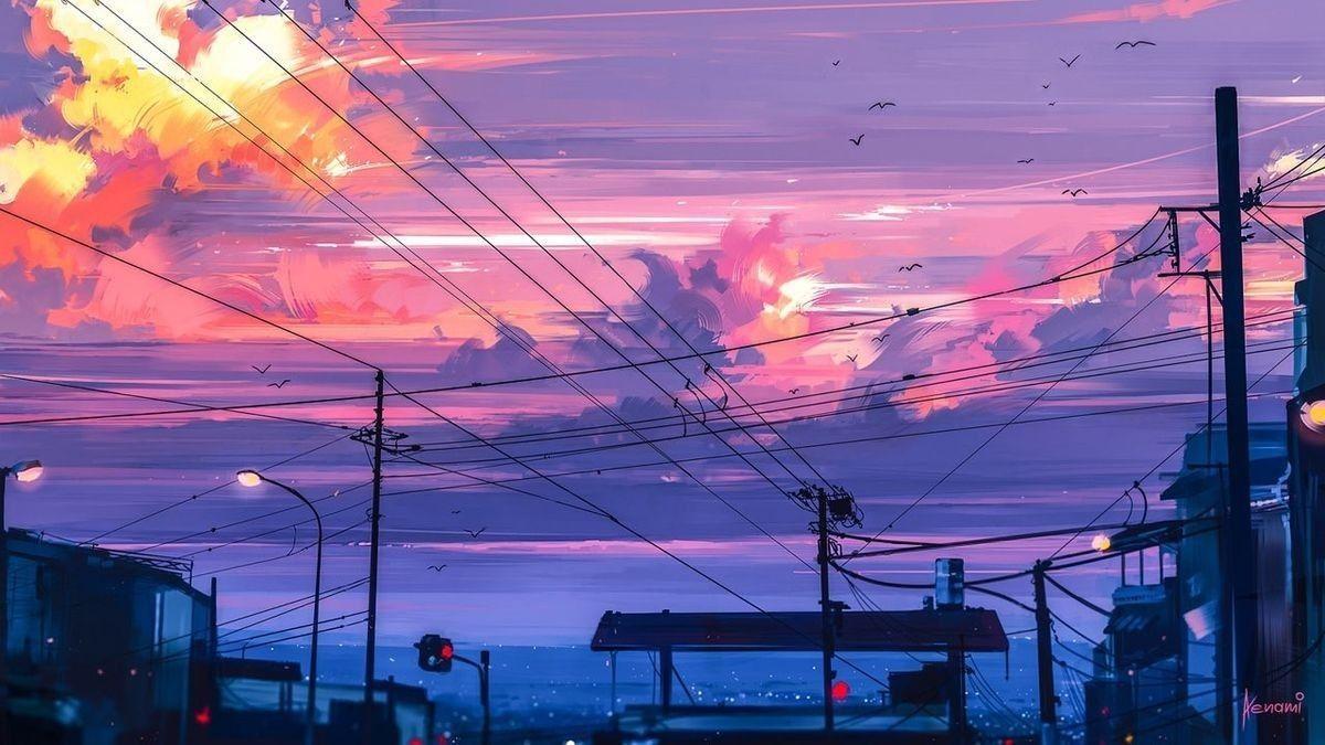 Anime Sky Wallpapers View Beautiful Backgrounds Art Sunset Animewallpapers Desktop Wallpaper Art Anime Backgrounds Wallpapers Scenery Wallpaper
