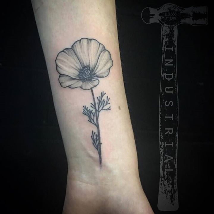 Olio Golden Tattoo By Misskwan From Industrial Tattoo 20170712 Tattoos Tattoo Images Poppy Flower Tattoo