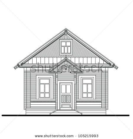 Small House Entrances Of A Front Facade Of Small Wooden