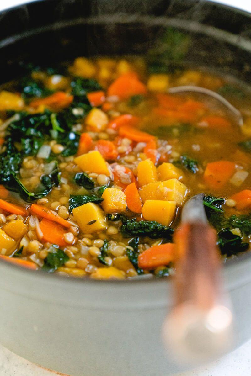 Superfood Butternut Squash Lentil Soup – A Couple Cooks