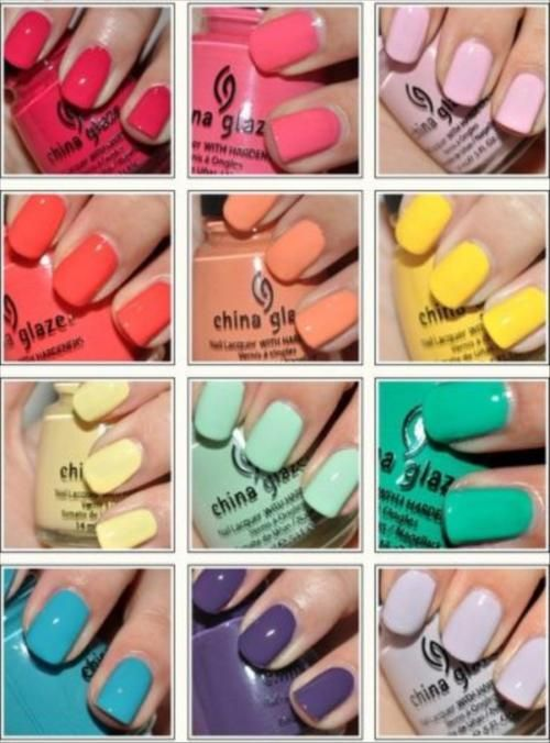 shades of nail polish color palette for the summer trend | Nails ...