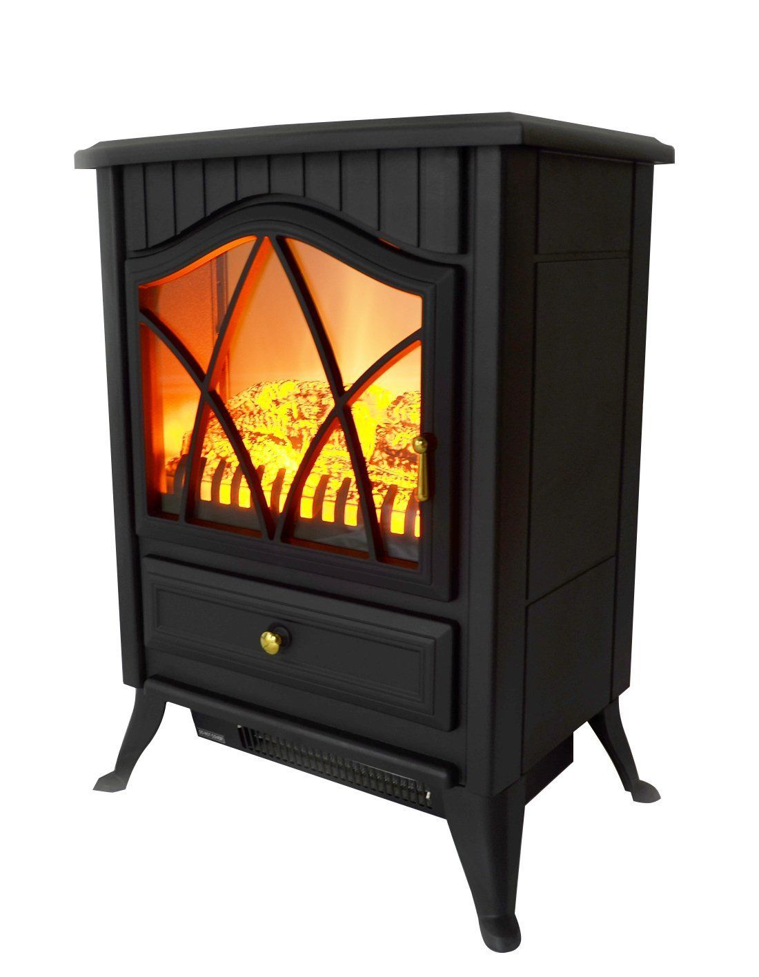 Electric Stove Heater Freestand Indoor Fireplace 1500 Watt 5200