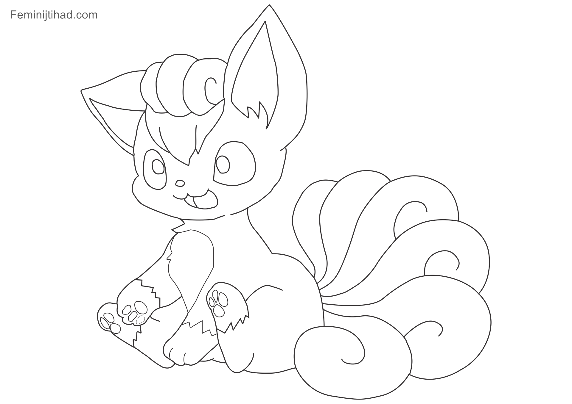 11 Pokemon Vulpix Coloring Pages Printable   Coloring Pages ...