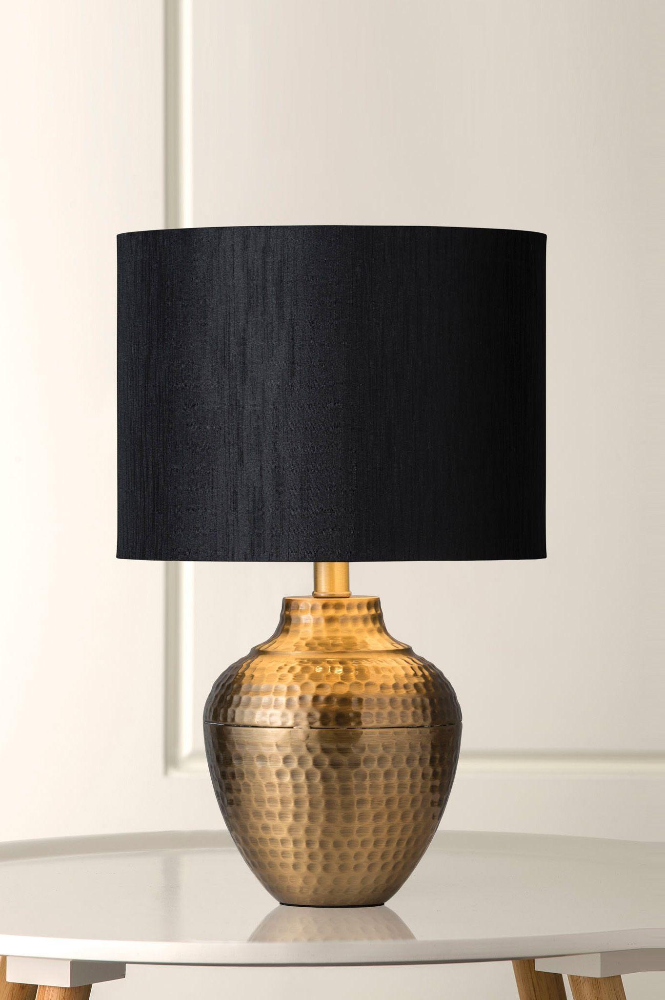 1126 Pavi Hand Beaten Brass Table Lamp Table Lamp Brass Table