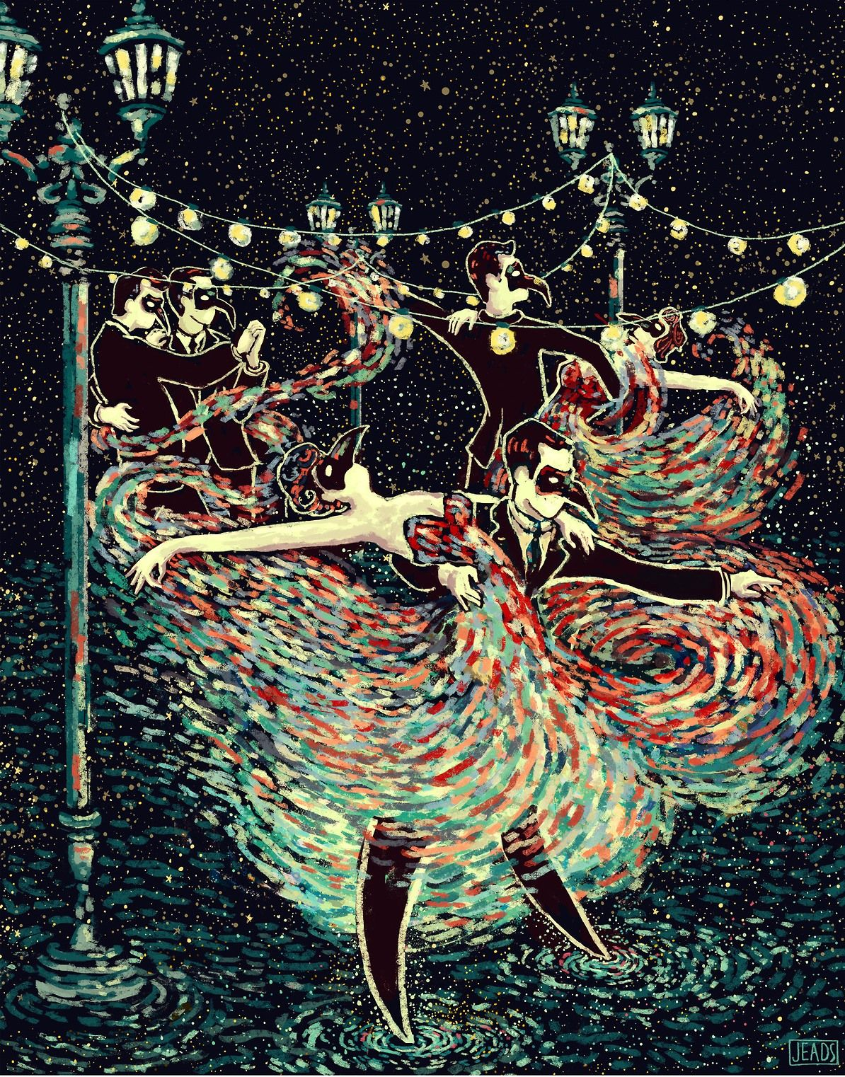 The Lovers - James R  Eads - Prisma Visions Tarot | VI The Lovers