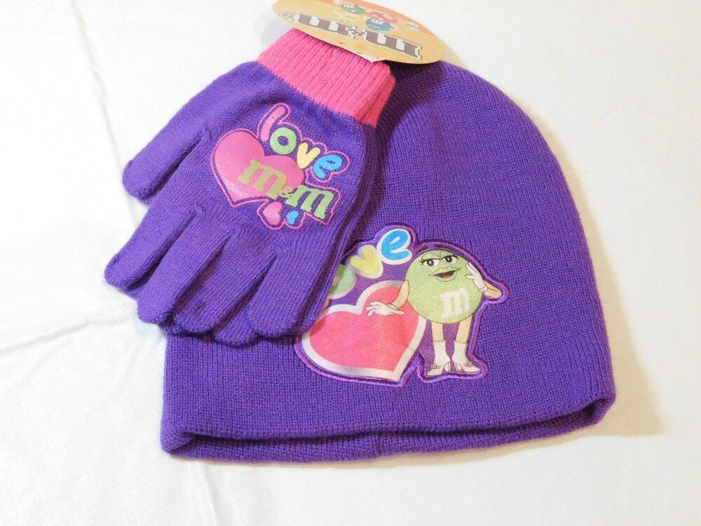 7d9648d04 Accessories 22 M M s Girls Gloves Mittens   Beanie One Size Acrylic Knit NWT   MMs  GlovesMittensBeanie
