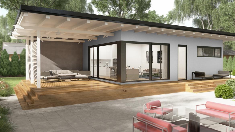 Tokio donacasa 120m2 hormig n celular con trasdosado for Casas modernas 120m2