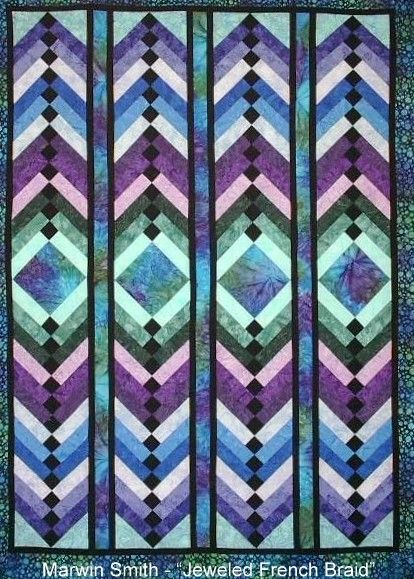 Jeweled French Braid Quilt By Marwin Smith Quilters Of