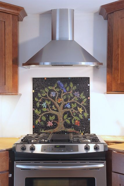 Mosaic Tile Backsplash Tree Of Life Mosaic Mosaic Backsplash