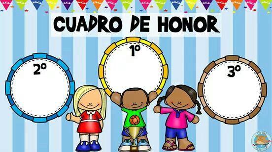 Cuadro honor | Actividades escolares, Etiquetas preescolares ...