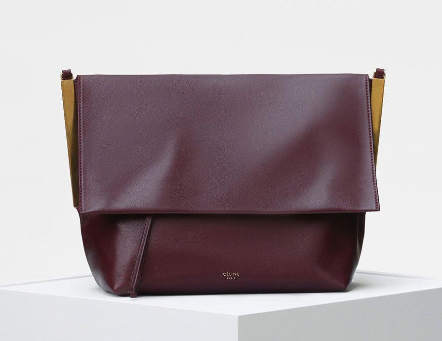 Authentic Celine Blade Shoulder  Crossbody bag Celine Blade Bag with  gold-tone hardware e80ec36b02d56