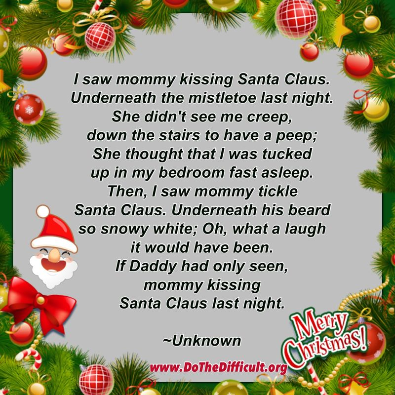 Funny Mommy Kissing Santa Claus Quote - DoTheDifficult.org - Quotes ...