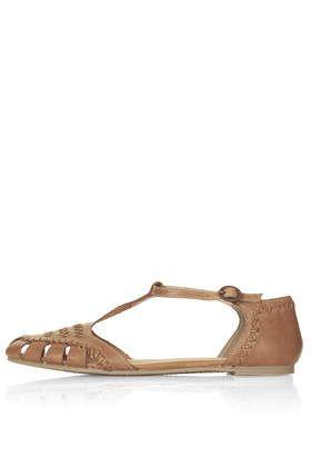 HANSEL Woven T Bar Shoes | T bar shoes