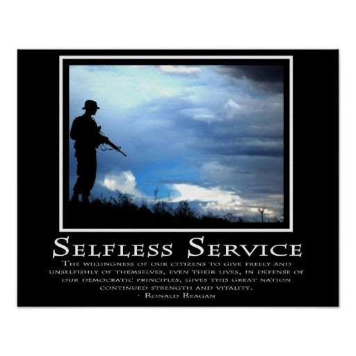 Selfless service army essay