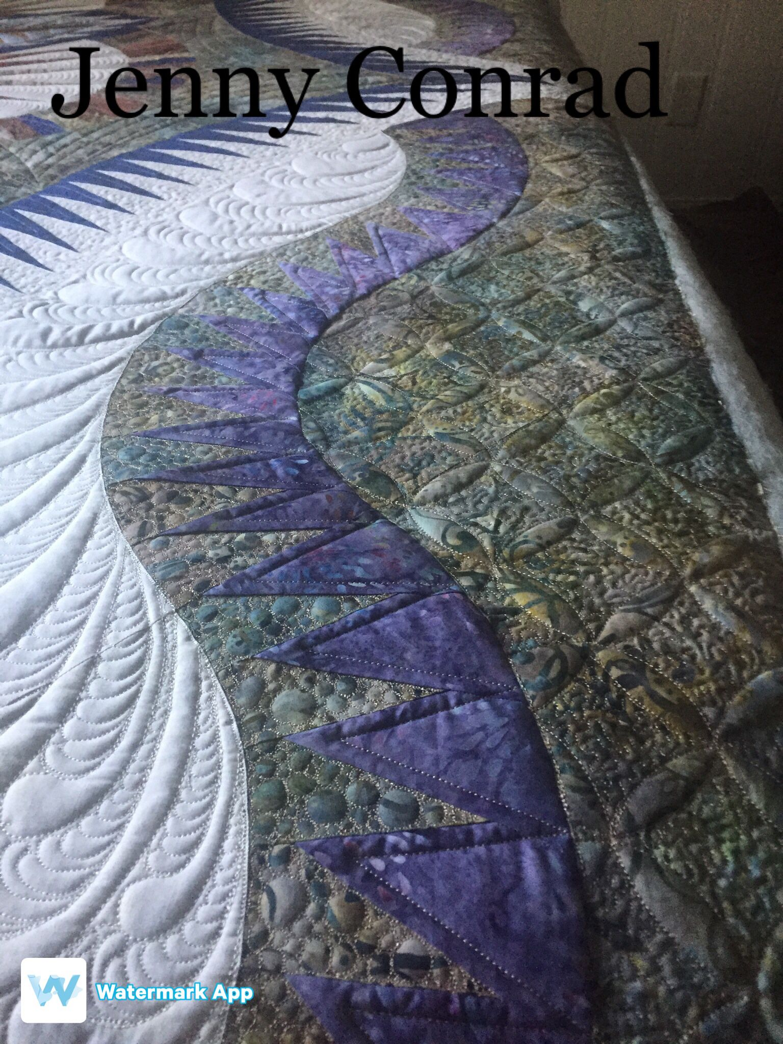 Stunning Quilt That I Had The Privilege To Love Texture Apqs Glidethread