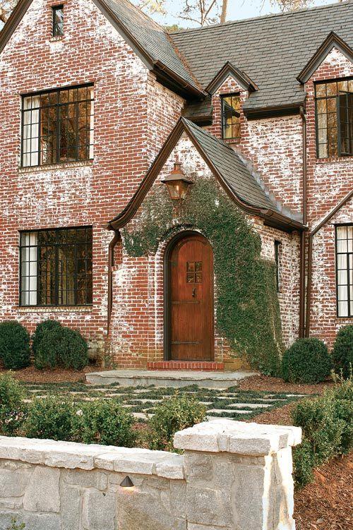 Dark Limewash Brick Exterior