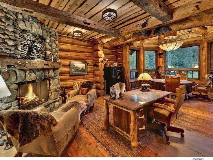 les fustes   des maisons en rondins de bois
