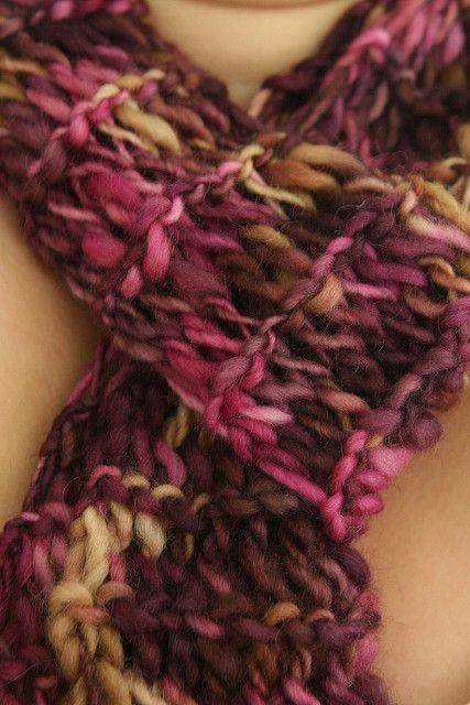 Twisted Drop Stitch Scarf Good For Stretching A Little Bit Of Yarn