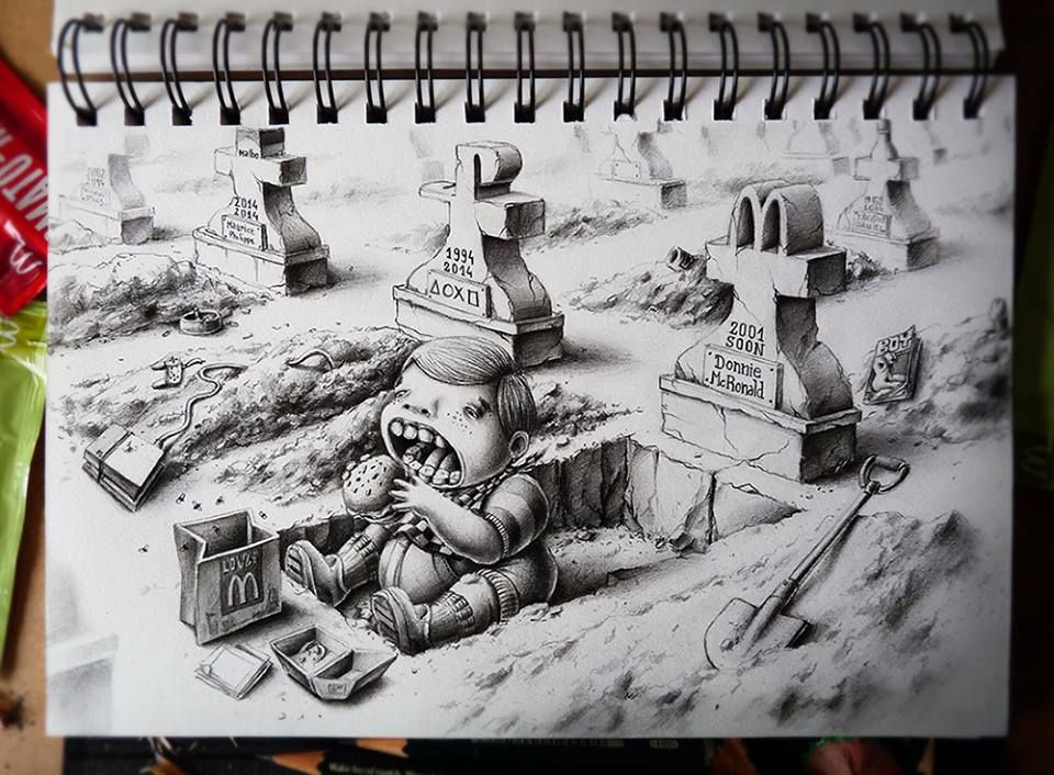 Mind blowing graphite pencil doodles and sketches by french artist pez