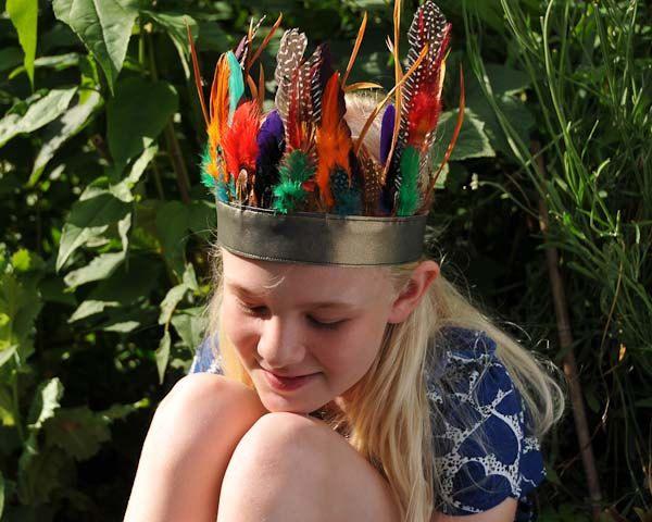 """feather headdress.... """"rainbow"""" headband. £22.00, via Etsy."""