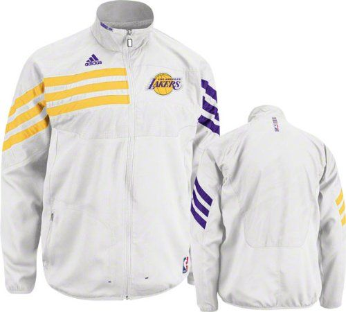 7a583b98fce Adidas Los Angeles Lakers On-Court Warmup Jacket Medium Dress like an NBA  player with the adidas® on-court warmup jacket, which all teams wear during  home ...