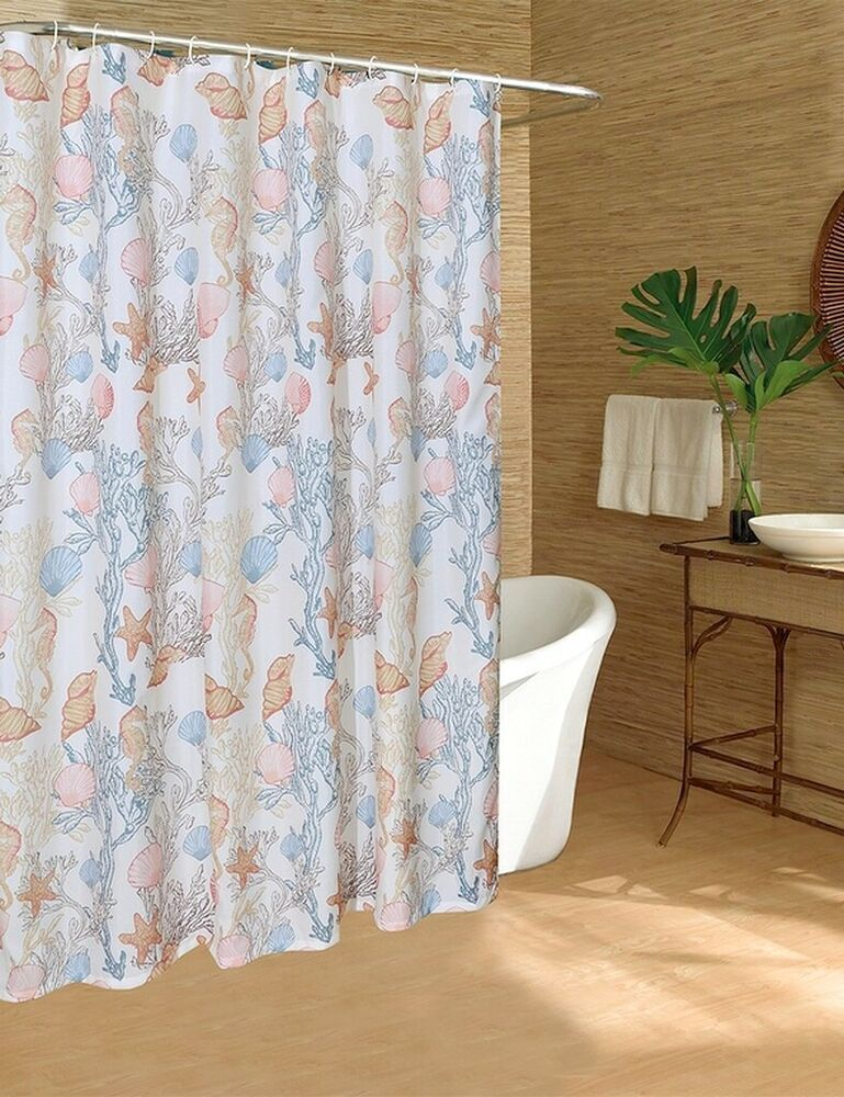 Caribbean Joe Fabric Shower Curtain Under The Sea Beach Summer
