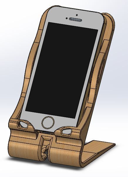 Stand for Iphone - SOLIDWORKS - 3D CAD model - GrabCAD