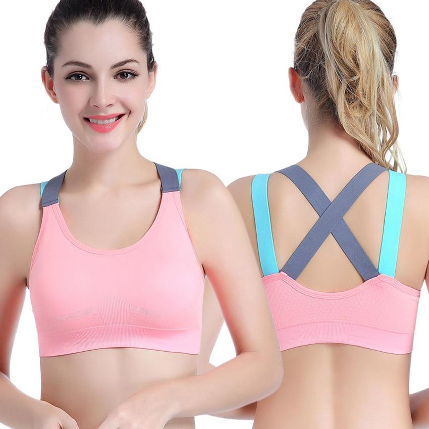 Women/'s Padded Sports Bra Yoga Gym Workout Running Vest Support Shapewear Tops