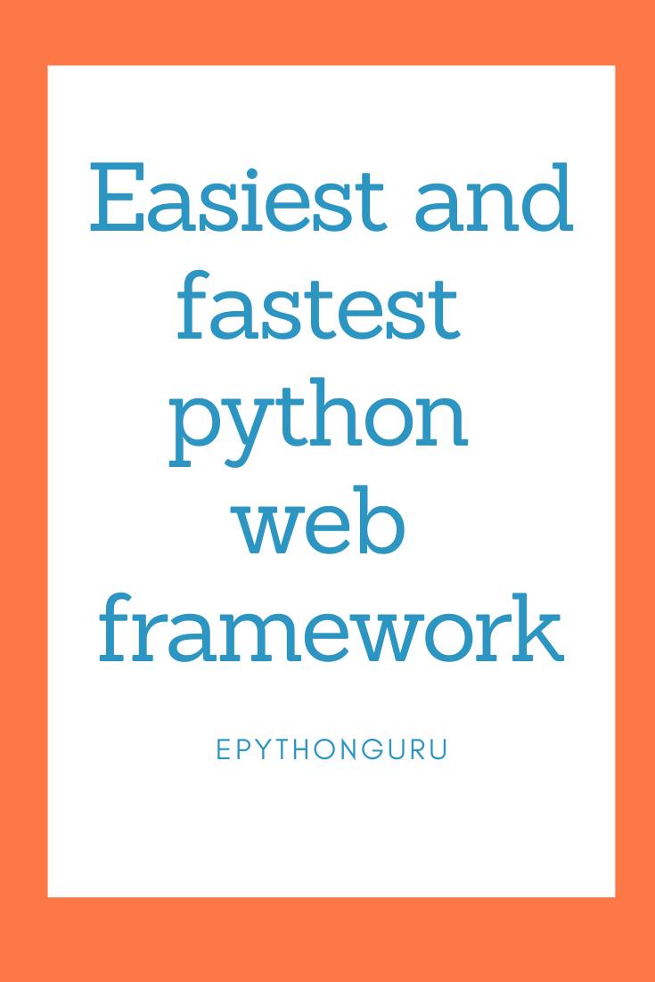 Pin On Python Frameworks