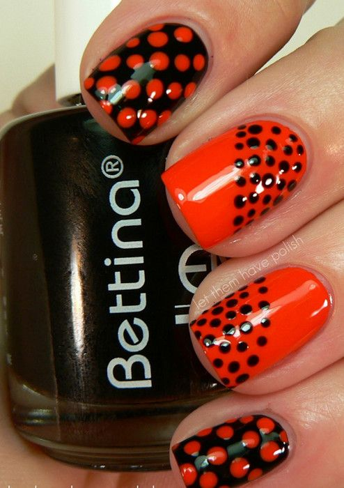Red and black nail art for short nails manicure pinterest red and black nail art for short nails prinsesfo Gallery