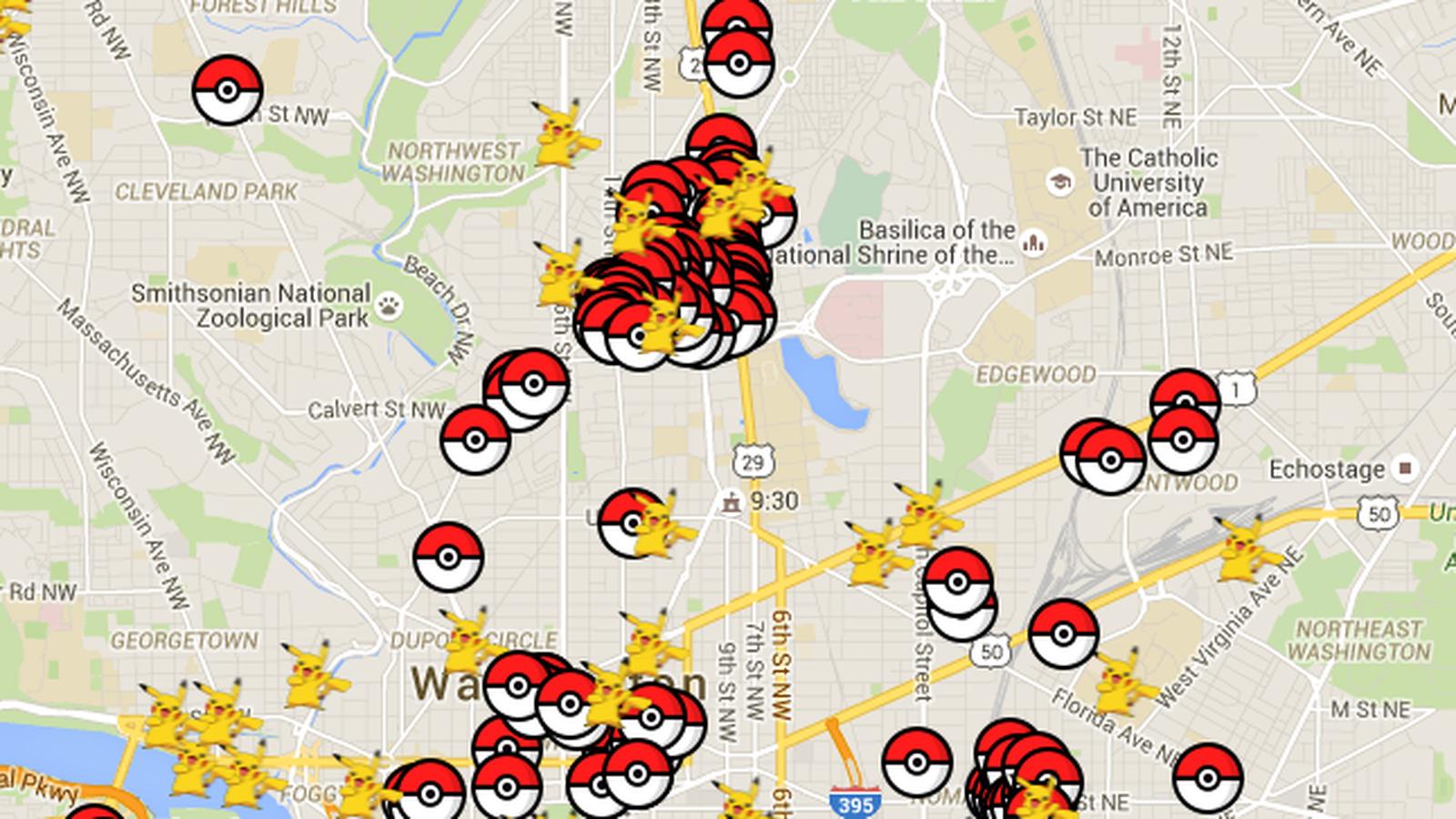 Pokemon Go Washington Dc Map