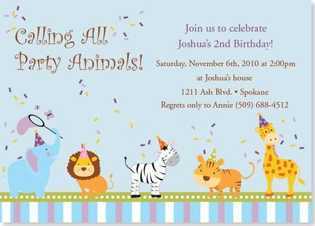 Party animals birthday invites party planning pinterest animal party animals birthday invites filmwisefo Images