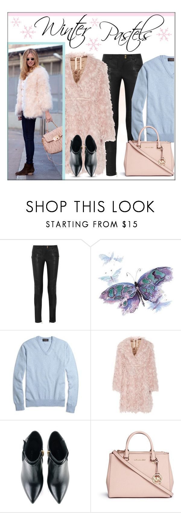 """""""Winter Pastels"""" by lgb321 ❤ liked on Polyvore featuring Balmain, Brooks Brothers, N°21, Kim Kwang and Michael Kors"""