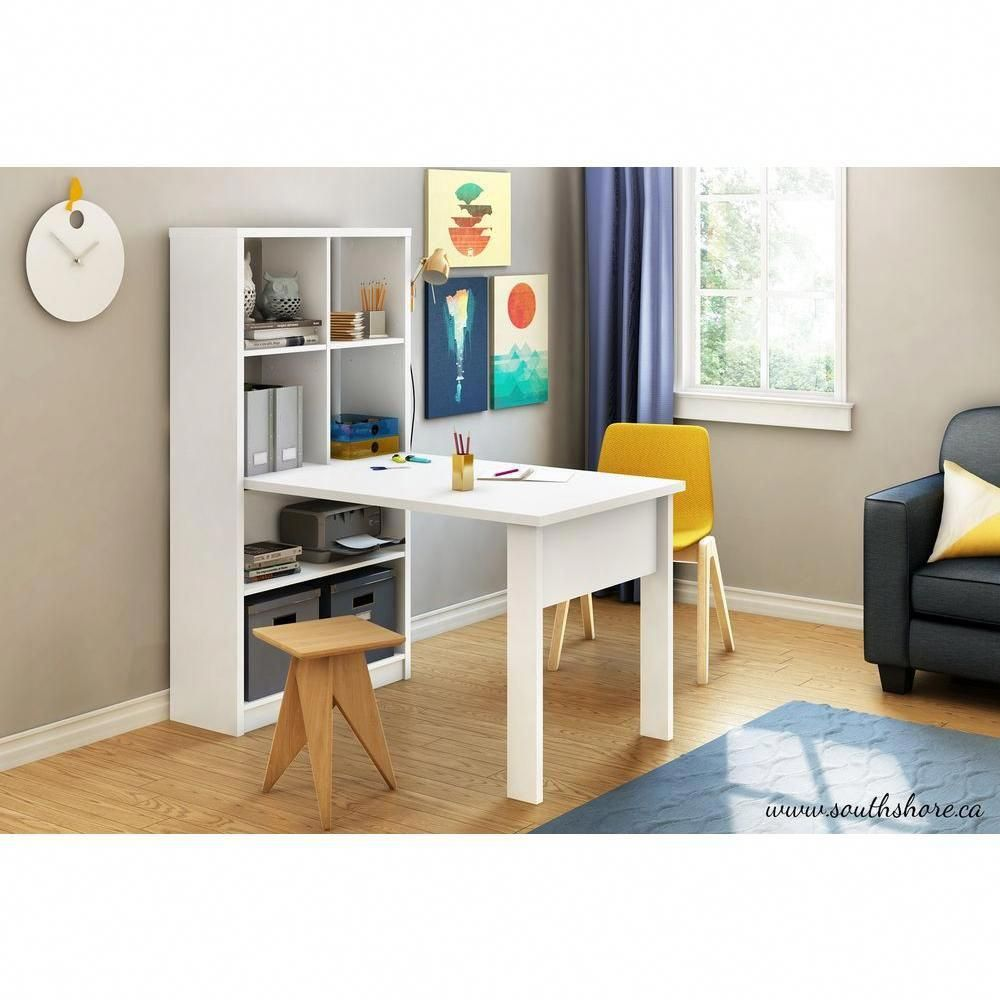 South Shore Annexe 2-in-1 Piece Pure White Office Suite